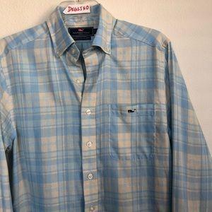Vineyard Vines Slim Fit Plaid Button Tucker Shirt